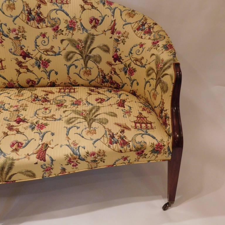 Edwardian Hepplewhite Style Sofa, England, circa 1910 For Sale 1