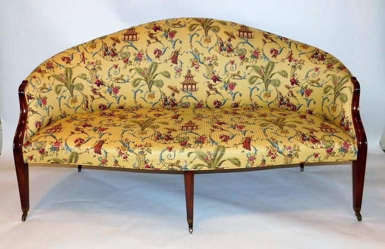 English Edwardian Hepplewhite Style Sofa, England, circa 1910 For Sale