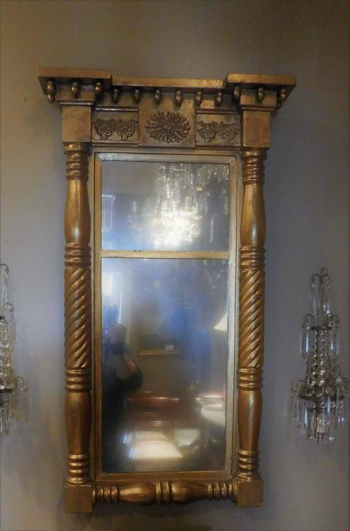 Empire Tabernacle Two Part Mirror For Sale At 1stdibs