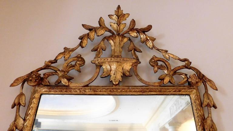 18th Century Neoclassical Italian Mirror In Excellent Condition For Sale In Alexandria, VA