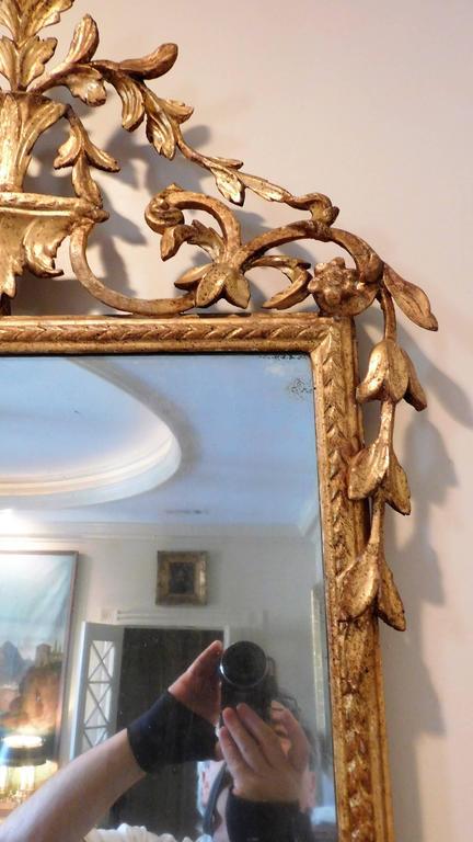 Late 18th Century 18th Century Neoclassical Italian Mirror For Sale