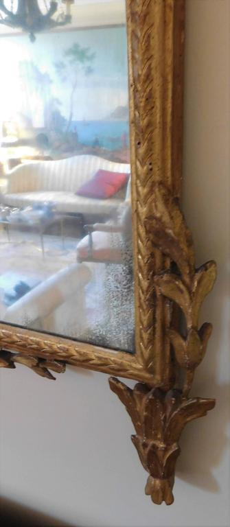 18th Century Neoclassical Italian Mirror For Sale 2