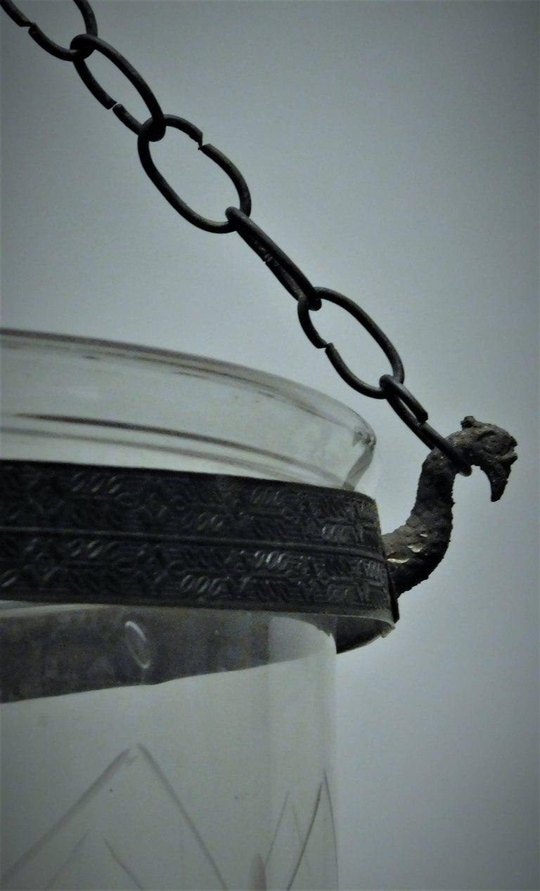 18th Century Regency Trellis Pattern Lantern, London, circa 1790  For Sale