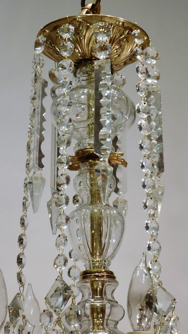 Louis XV Style Gilt Brass 15-Light Chandelier, Sweden, circa 1900 4