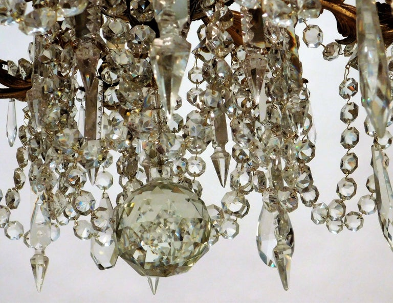 Louis XV Style Gilt Brass 15-Light Chandelier, Sweden, circa 1900 9