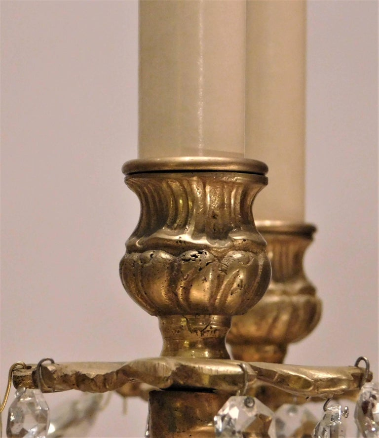 Louis XV Style Gilt Brass 15-Light Chandelier, Sweden, circa 1900 10