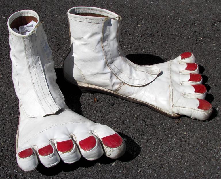 Big Bare Feet Vintage Clown Shoes At 1stdibs