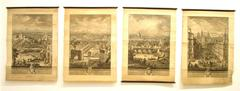 """Set of Four """"Grand View"""" Etchings of Rome by Giuseppe Vasi 1770's"""