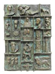 """Greatest Show On Earth"" Bronze plaque by Dean Meeker"