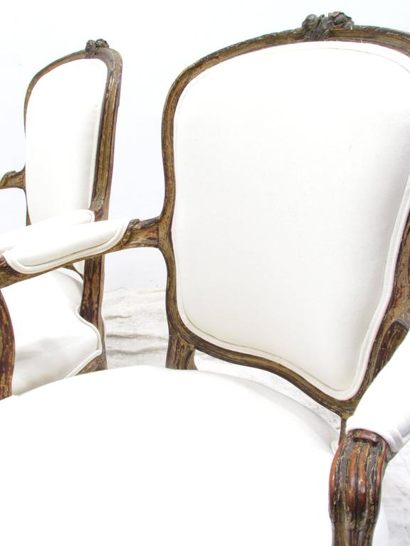 Pair of Louis XV Style Fauteuils For Sale 1