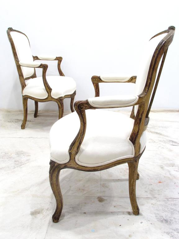 Pair of Louis XV Style Fauteuils In Good Condition For Sale In High Point, NC