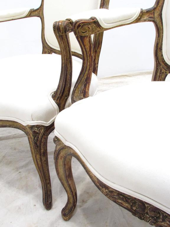 Pair of Louis XV Style Fauteuils For Sale 2