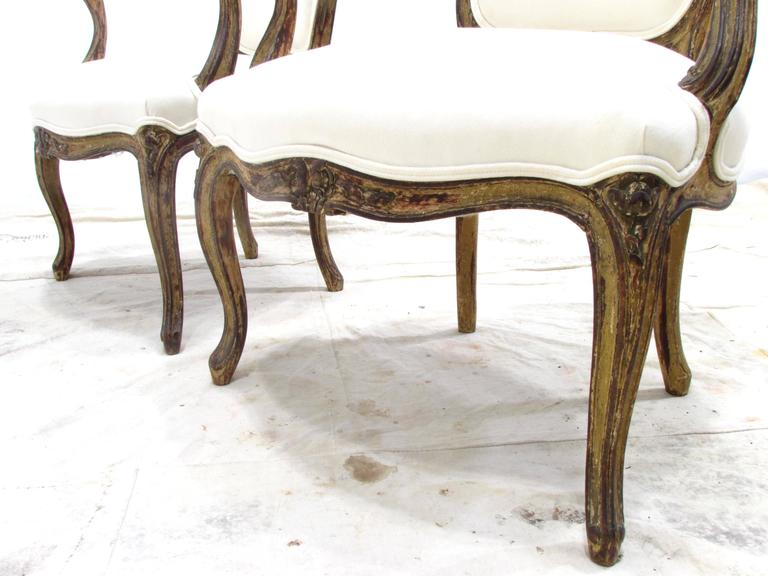 Pair of Louis XV Style Fauteuils For Sale 4