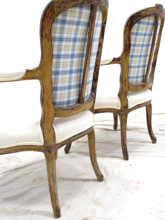 19th Century Pair of Louis XV Style Fauteuils For Sale