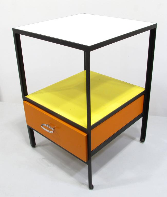 George Nelson Steel Frame Side Table 2