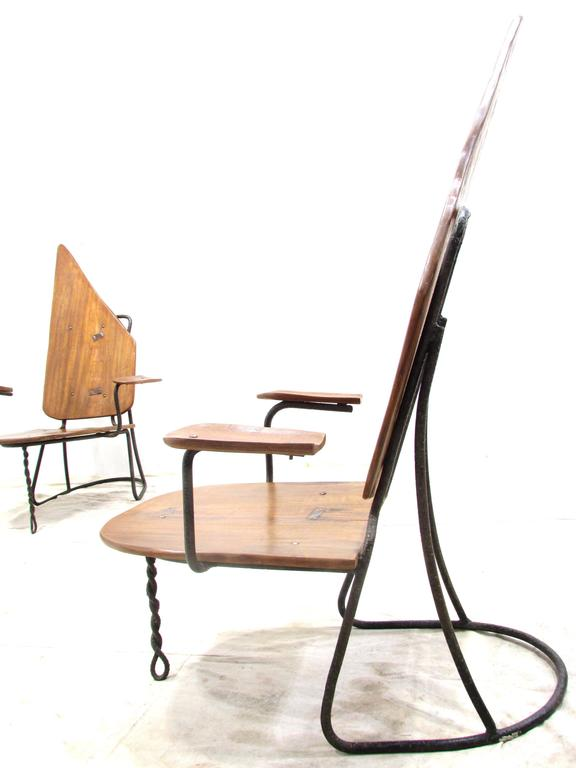 Mid-20th Century Set of Four California Brutalist Chairs For Sale