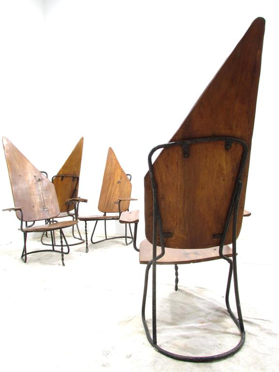 Set of Four California Brutalist Chairs In Good Condition For Sale In High Point, NC