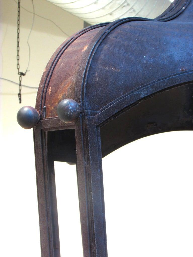 Late 20th Century Huge Rusty Lantern Chandelier For Sale