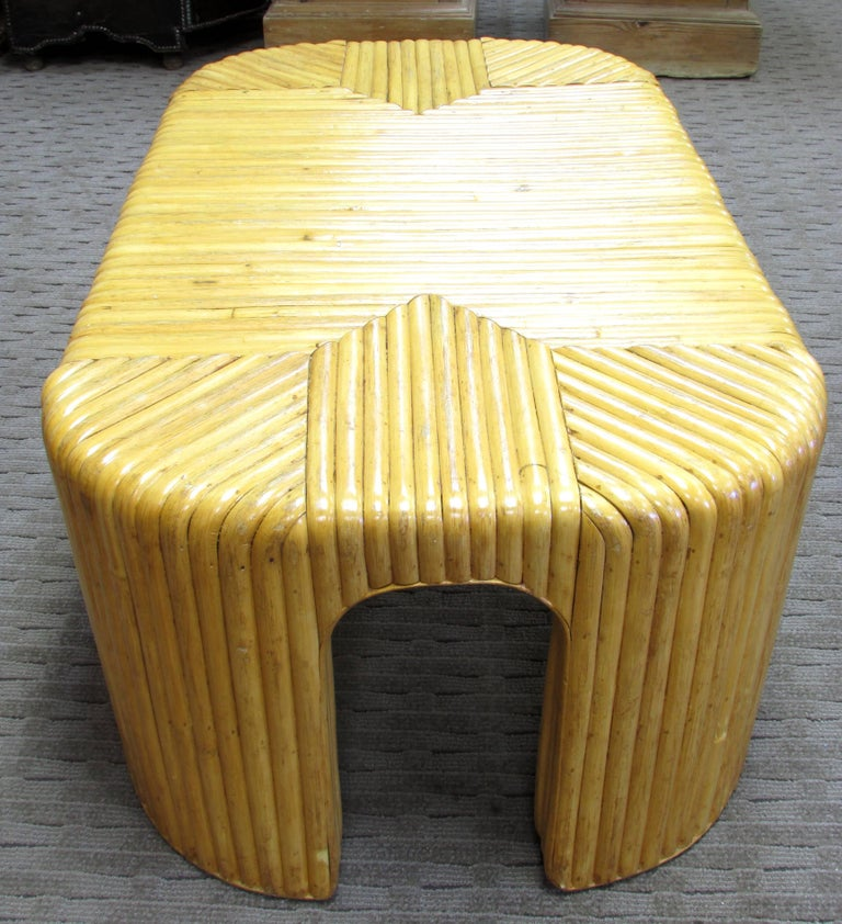 Mid-20th Century Rattan Coffee Table For Sale
