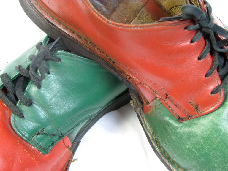 Vintage Orange and Green Clown Shoes For Sale 2