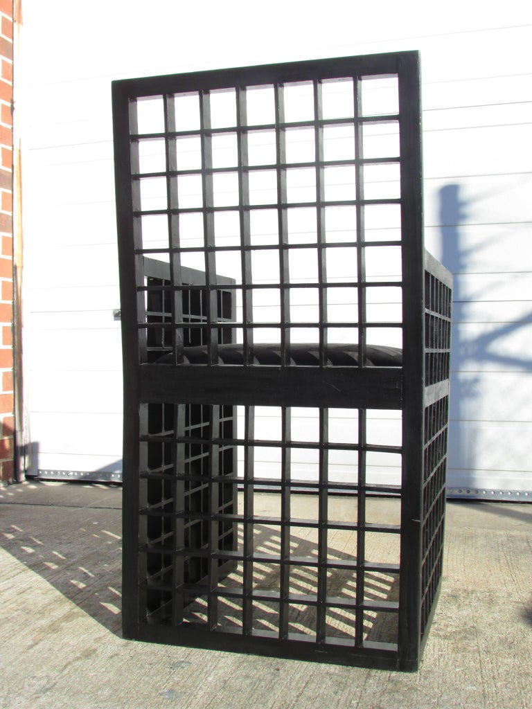 "Painted Set of Six ""Grid"" Chairs by Cy Mann For Sale"