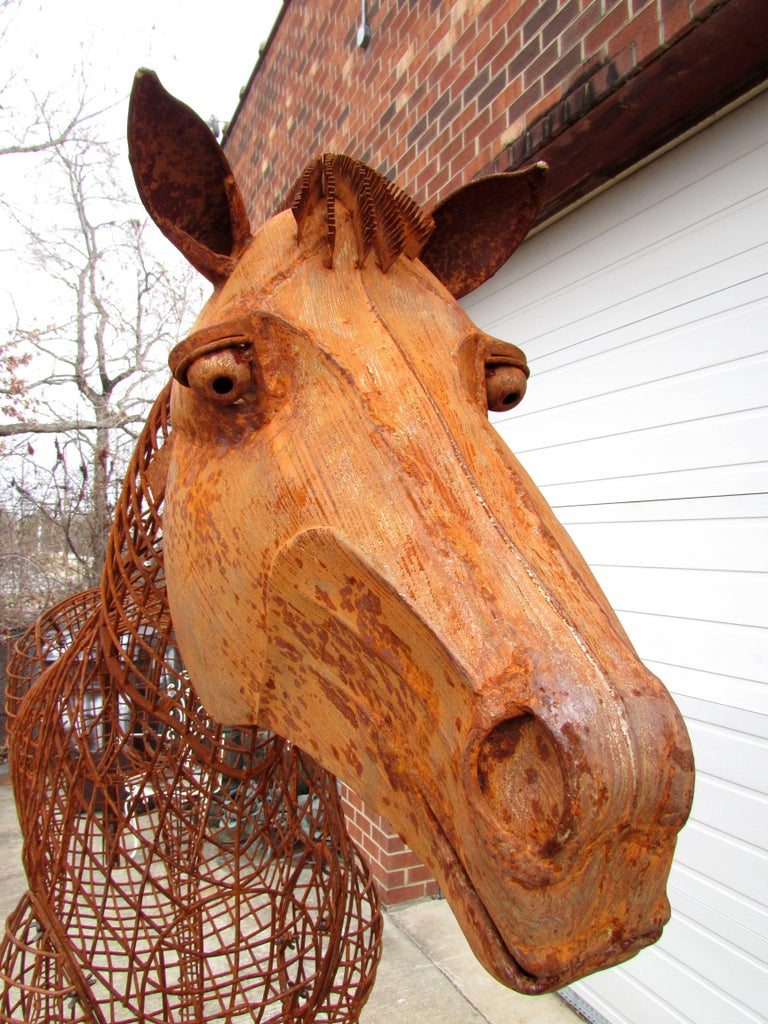 Life Size Horse Topiary Sculpture Form For Sale 2