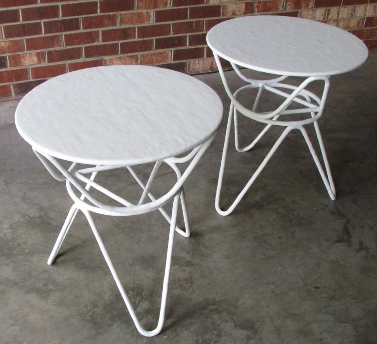 Mid-Century Modern Pair of Picasso End Tables by Mr. Brown of London For Sale