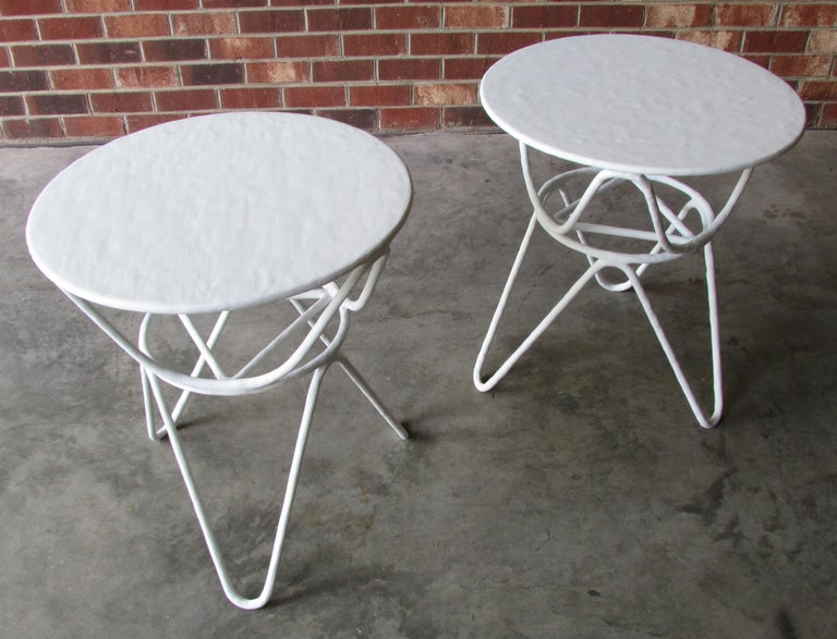 Pair of Picasso End Tables by Mr. Brown of London In Excellent Condition For Sale In High Point, NC