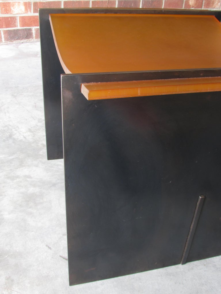 Rubber Seat Stool by Gulasso In Good Condition For Sale In High Point, NC