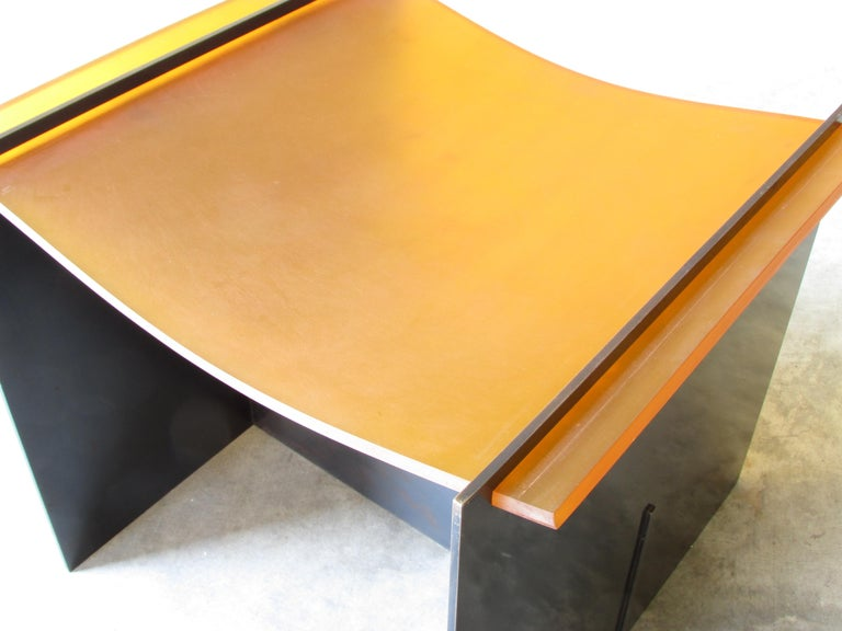 Steel Rubber Seat Stool by Gulasso For Sale