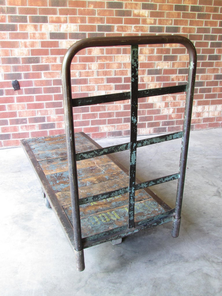 Early 20th Century Industrial Mail Room Cart For Sale