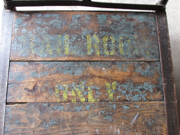 Metal Industrial Mail Room Cart For Sale