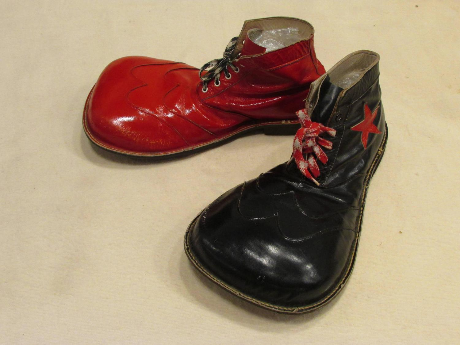 vintage and black clown shoes at 1stdibs
