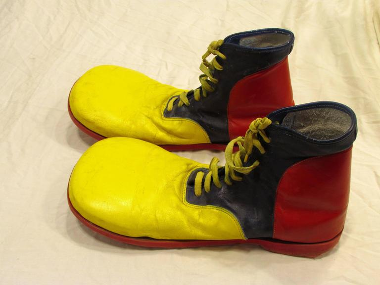 Blue And Yellow Clown Shoes