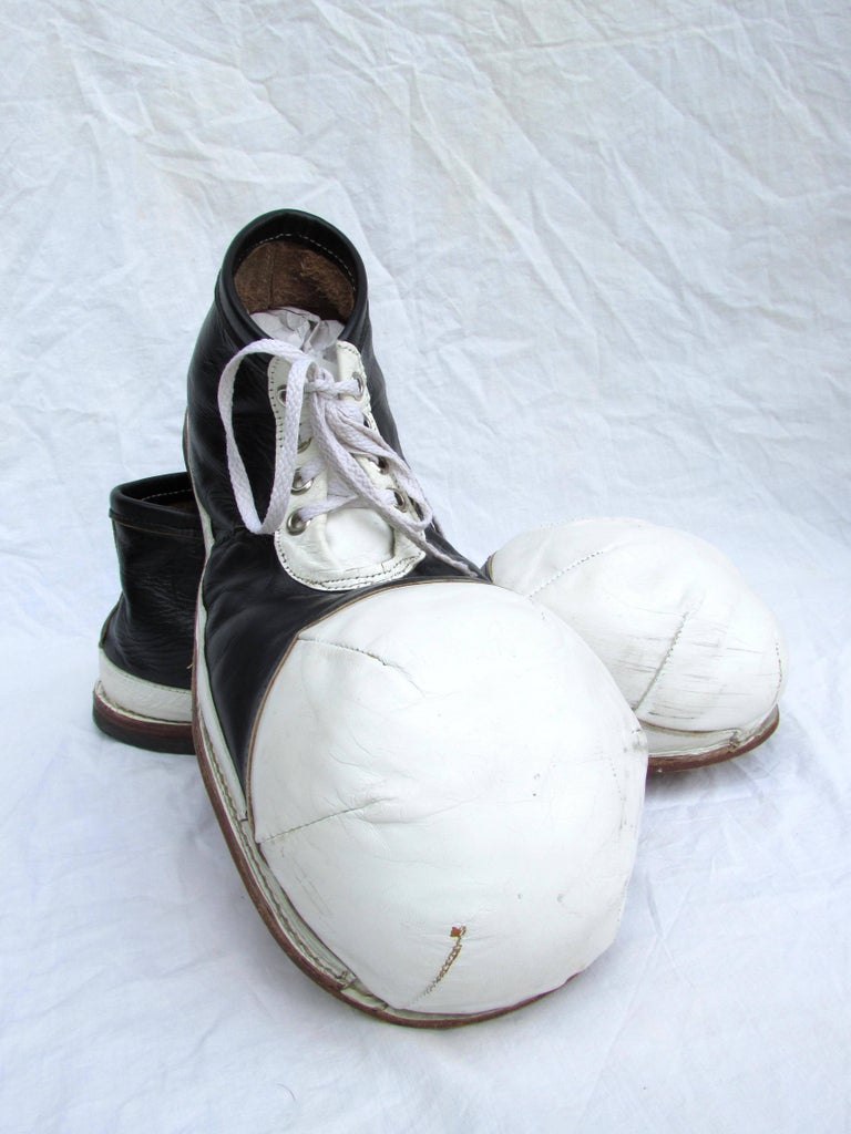 vintage black and white toe clown shoes for sale at