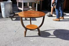 French Art Deco Exotic Walnut Accent / Gueridon /Side Table Circa 1940.