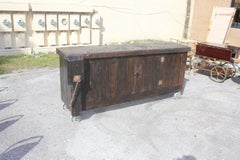 Antique French Country Solid Walnut Workbench 19th century