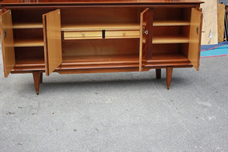 Classic French Art Deco Light Macassar Ebony with Rosewood Sideboard or Buffet For Sale 2