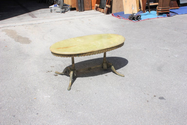 Mid-20th Century Classic French Maison Jansen Style Coffee or Cocktail Bronze Table, circa 1940s For Sale