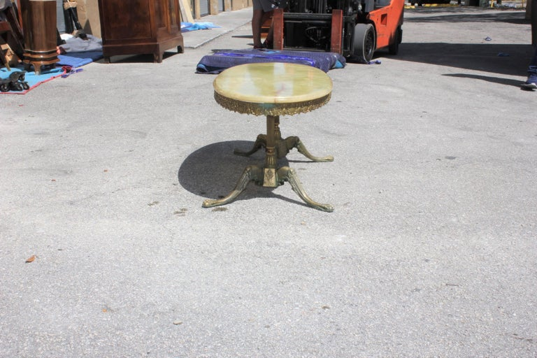 Classic French Maison Jansen Style Coffee or Cocktail Bronze Table, circa 1940s For Sale 6