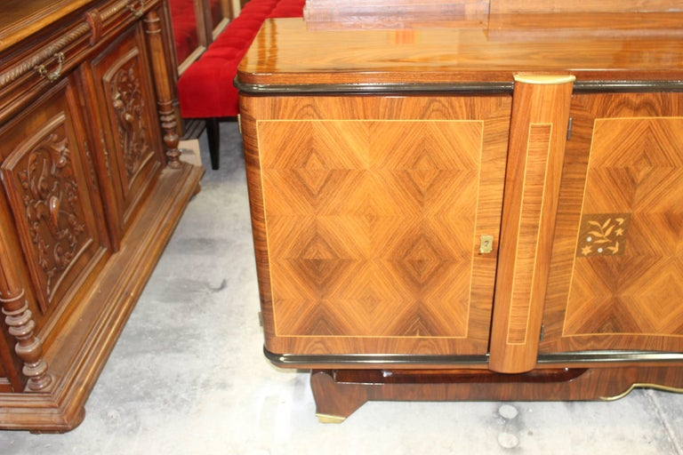 Classic French Art Deco Palisander, Jules Leleu Sideboard or Buffet, circa 1940s For Sale 2