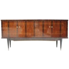 Long French Art Deco Macassar Ebony Sideboard or Buffet, circa 1940s