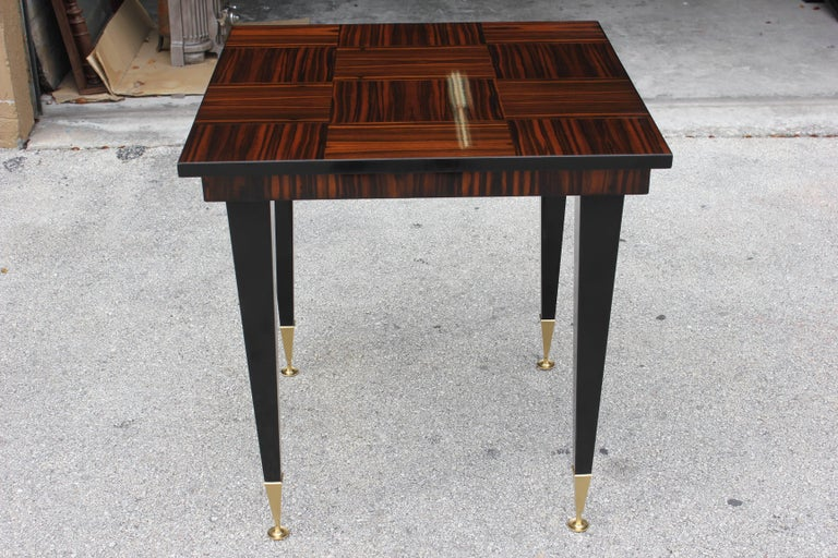 French Art Deco Exotic Macassar Ebony