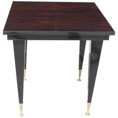French Art Deco Exotic Macassar Ebony Game Table or Center Table, circa 1940s