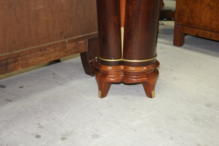 French Art Deco Exotic Macassar Ebony Console Tables, circa 1940s For Sale 9