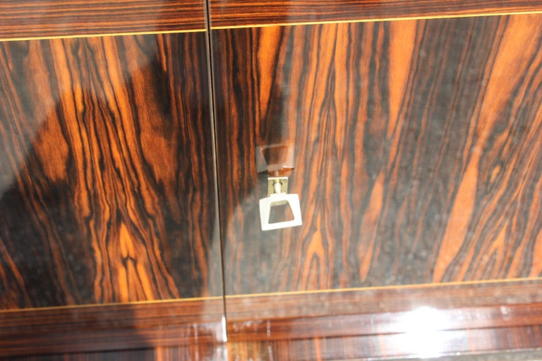French Art Deco Exotic Macassar Ebony Sideboard or Buffet, circa 1940s For Sale 5