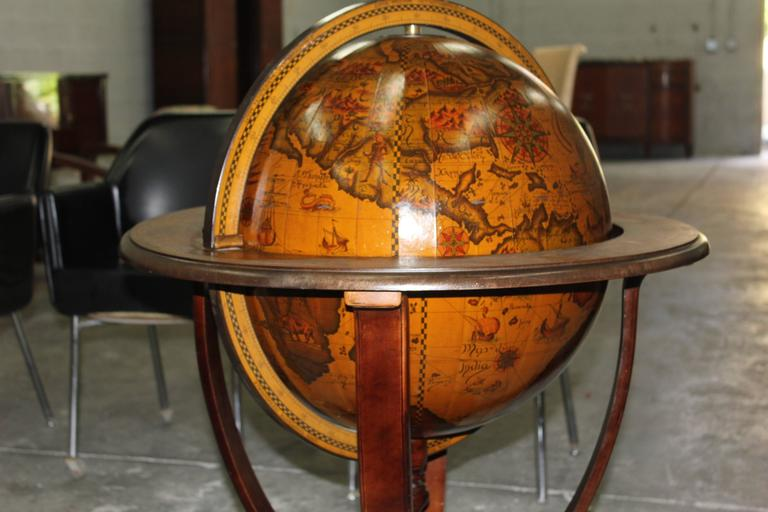 Ongebruikt French Art Deco World Globe Bar, circa 1940s at 1stdibs DN-44