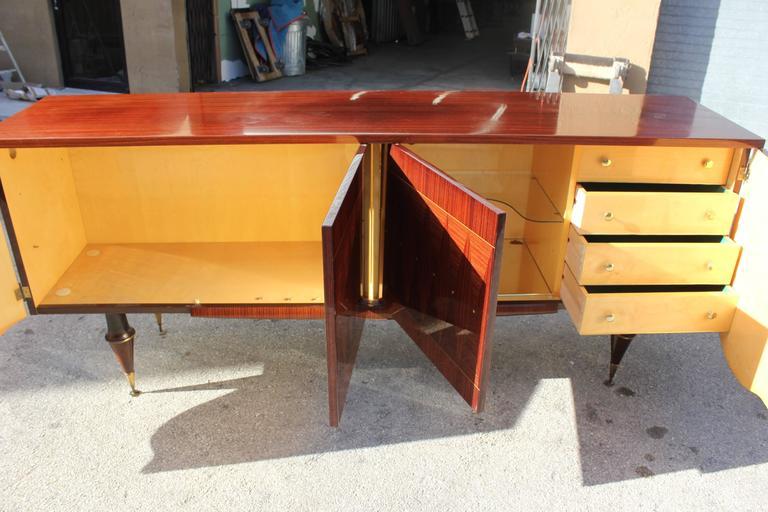 "Art Deco/ Art Modern Sideboard / Buffet Macassar Ebony ""Sunray"", circa 1940 8"