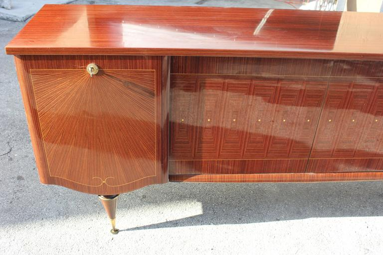 "Art Deco/ Art Modern Sideboard / Buffet Macassar Ebony ""Sunray"", circa 1940 3"