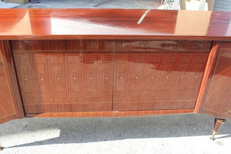 "Art Deco/ Art Modern Sideboard / Buffet Macassar Ebony ""Sunray"", circa 1940 4"